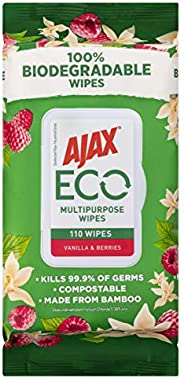 Ajax Eco Multipurpose Antibacterial Disinfectant Biodegradable Compostable Bamboo Household Grade Surface Clea