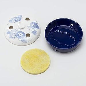 サンアート 日本の 陶器 「 蚊取り線香 ホルダー 」 あさがお 蚊遣り 箱 直径15.5cm SAN1117-108