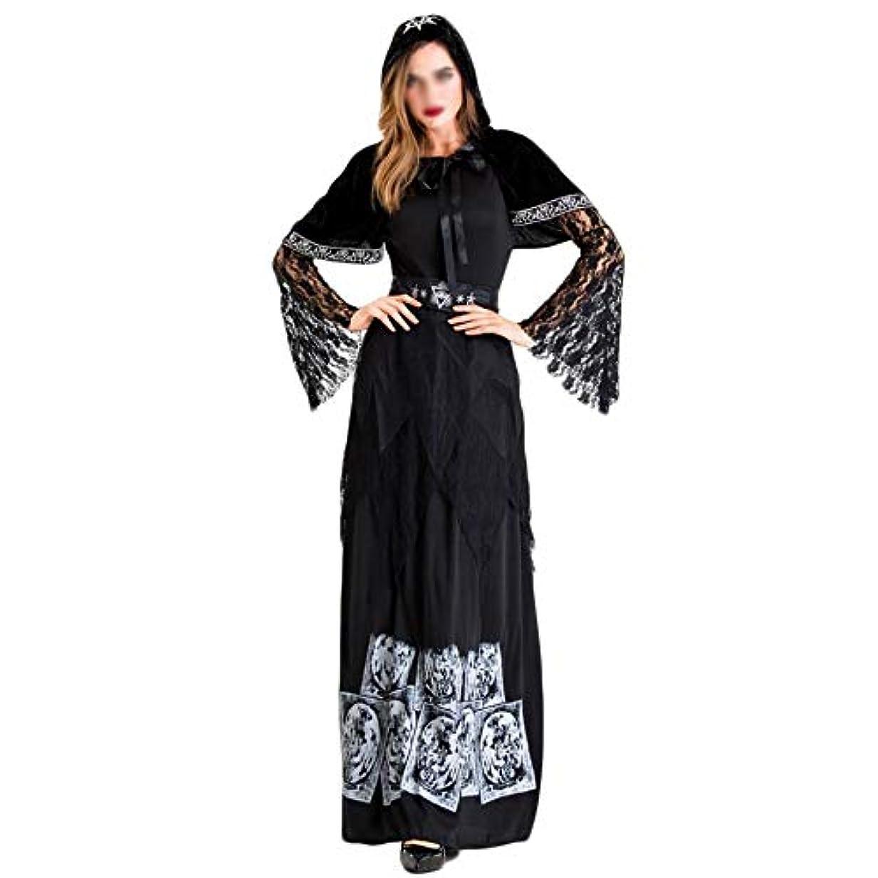 普遍的な植物学者邪魔するSNGIAN 女性ハロウィン大人吸血鬼伯爵衣装ダークゴースト花嫁魔女ロングスカートプリンセスドレス (Color : A, Size : XL)