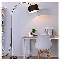 JDGK フロアランプシンプルなledリビングルームの研究寝室のベッドサイド垂直フロアランプ -9811 フロアスタンド・ランプ (色 : ブラック)