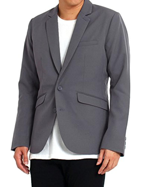 (トップイズム) TopIsm テーラードジャケット メンズ ジャケット シングル 無地 ストライプ 1B 2B スーツ 生地 ノッチドラペル セットアップ可