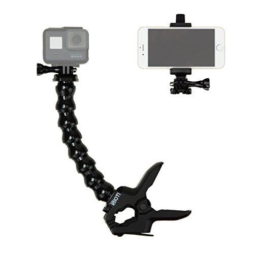 SIOTI ジョーズフレックスクランプマウント 調整可能なグースネック付き そして 電話クリップ カメラアクセサリー GoProカメラHero 他のスポーツカメラ そして iPhone X、8、8 Plus、7、7 Plus、6S、6S Plusなどのスマートフォン