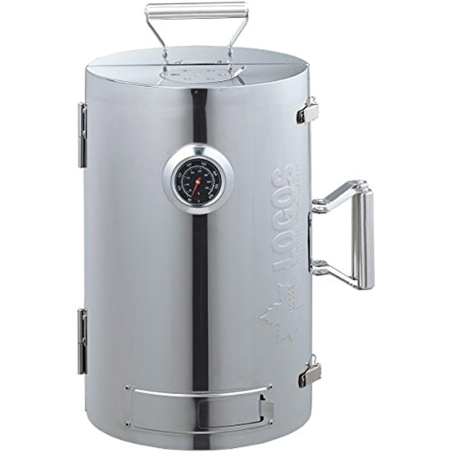 四回豚肉深めるロゴス(LOGOS) スモーカー LOGOSの森林 スモークタワー 燻煙器 円筒型 180度開閉タイプ 熱源不要