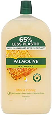 Palmolive Naturals Liquid Hand Wash Soap Milk and Honey with Moisturising Milk Refill and Save 0 percentage Pa