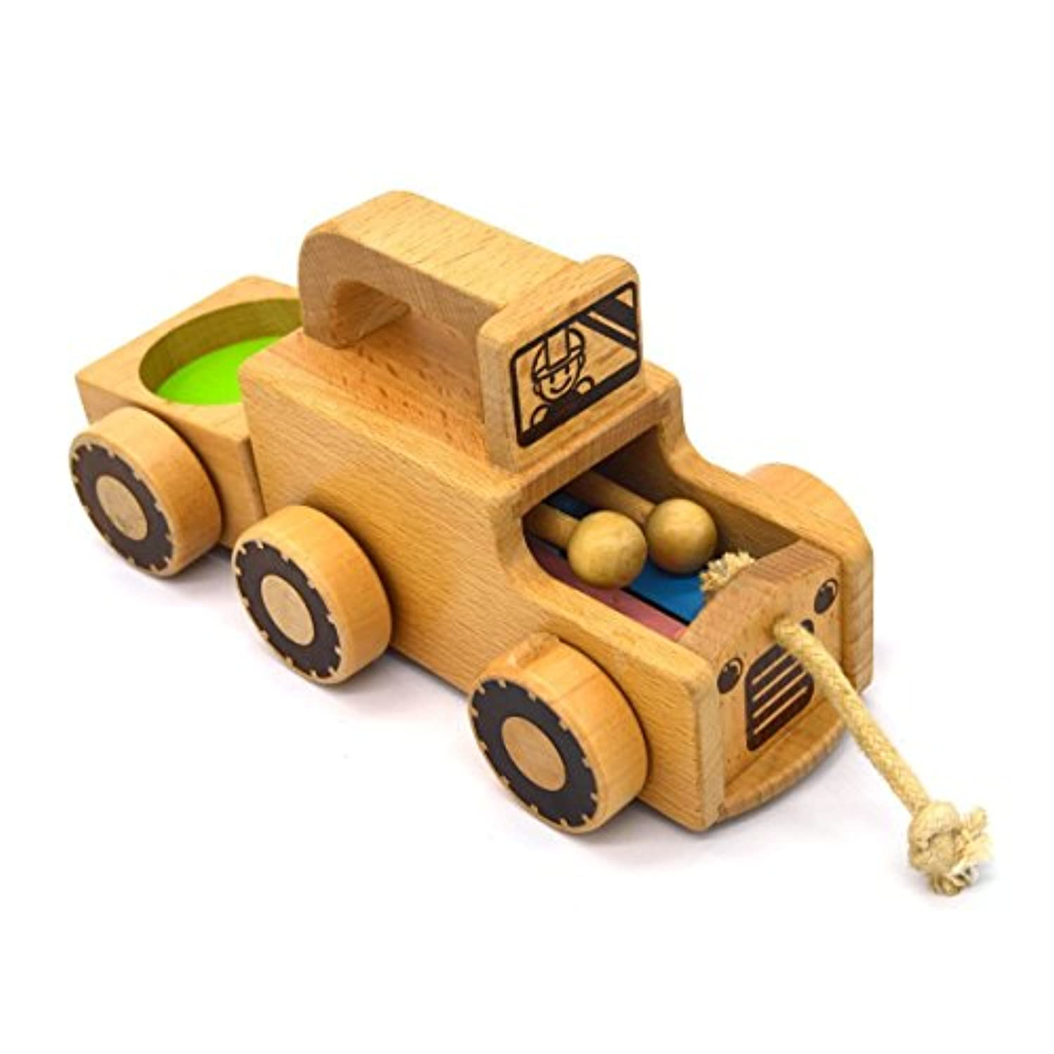 MXtechnic Wooden Pull Musical Toy車子供の教育玩具幼児用ベビーカーfor your sweet baby
