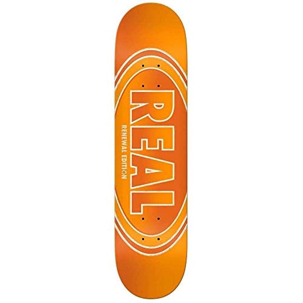 シャワー悪名高い出費REAL/リアル CROSSFADE RENEWAL 7.75 ORANGE DECK スケートボード/スケボーデッキ SK8