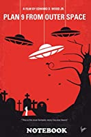 """Notebook: No518 My Plan 9 From Outer Space Minimal Movie Poster , Journal for Writing, College Ruled Size 6"""" x 9"""", 110 Pages"""