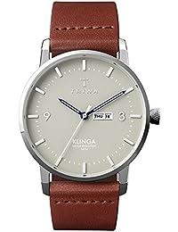 [トリワ]TRIWA メンズ レディース ユニセックス ミスト クリンガ シルバーケース ライトグレー文字盤 ブラウン レザー KLST105-CL010212 腕時計 [並行輸入品]