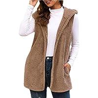 Womens Vest Winter Warm Hoodie Sleeveless Outwear Casual Coat Sherpa Jackets