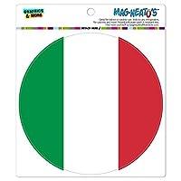 イタリア国立国旗 - サークル MAG-格好いい'S(TM)カー/冷蔵庫マグネット