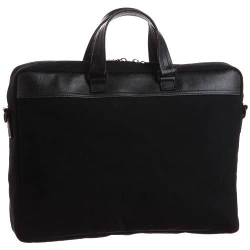 【木和田】帆布ビジネスバッグ本革付属 鞄の聖地兵庫県豊岡市製 5919 01 (ブラック)