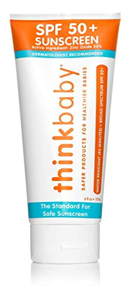 感嘆盗難立証するThinkbaby Sunscreen - Safe - Baby - SPF 50 Plus - 6 oz