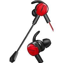 ゲーミング イヤホン イヤホンマイク マイク付きイヤホン ヘッドセット イヤフォン ヘッドホン ps4 pc 高音質 カナル型 switch 重低音 有線 リモコン スマホ 携帯 ゲーム 3.5mmコネクタ付き ノイズ消却 PlayStation 4 モバイル PUBG 荒野行動 WINTORY MG-1