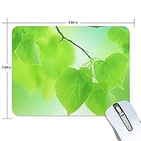 Anmumi マウスパッド 滑り止め 葉 緑 自然 19×25cm ゲームに適用 かわいい オシャレ レディース メンズ 子供 ゴム 実用性 パソコン対応