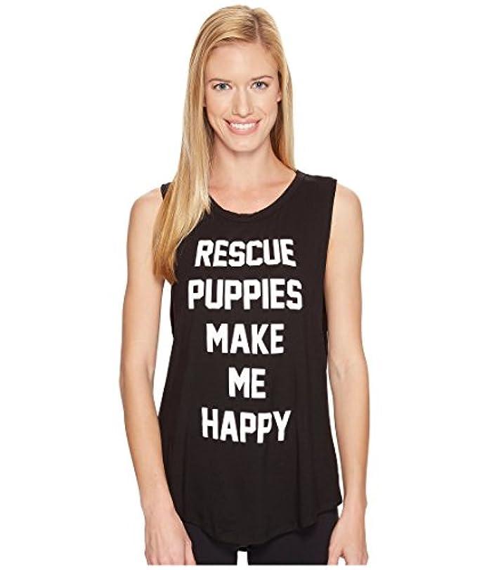 戸惑う整理するかもめ[パピーズ メイク ミー ハッピー] Puppies Make Me Happy レディース Rescue Puppies Title - Sleeveless トップス Black One Size [並行輸入品]