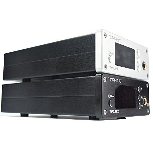 Topping TP-32EX デジタルヘッドフォンアンプ USB-DAC 50W リモコン付き (ブラック)