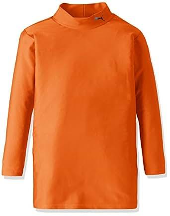 (プーマ)PUMA コンプレッション モックネック長袖シャツ 920481 [ジュニア] 10 オレンジ/ブラック 120