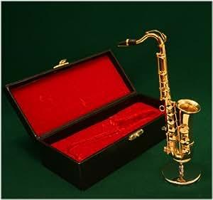 飾り物 ミニチュア楽器 テナーサックス 1/6サイズ