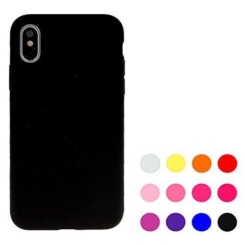 iPhone X 黒 シリコン ケース カバー iphonexケース iphonexカバー ipho...