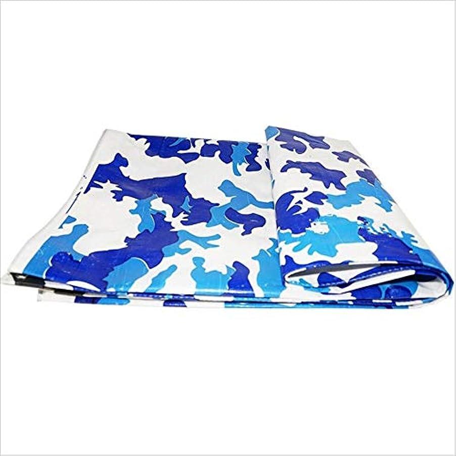 姓急流が欲しい防水シート、多目的UV耐性シェード防雨布迷彩タープ、200g /㎡、複数サイズ GAOFENG (色 : 青, サイズ さいず : 4 x 4m)