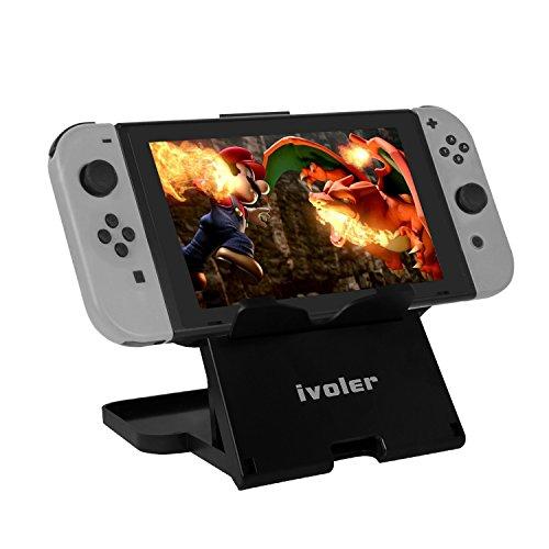 Nintendo Switch プレイスタンド iVoler 角度調整可 折りたたみ式 スタンド 携帯便利 iPad・スマホ・Kindle 適用