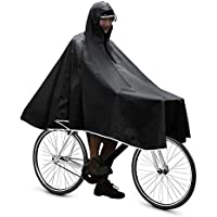 Anyoo Waterproof Rain Poncho Bike Bicycle Rain Capes Lightweight Compact Reusable for Adults