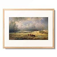 フェルディナンド・ペロット Ferdinand Victor Perrot 「Blick auf die Newa und die Kunstakademie in St.Petersburg. 1840.」 額装アート作品