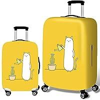 """スーツケースカバー 3Dプリント旅行荷物カバー18""""-32""""荷物2個用の丈夫で耐久性のあるスーツケースプロテクター トラベルスーツケースプロテクター (Color : Cat, Size : L(25''-28''))"""
