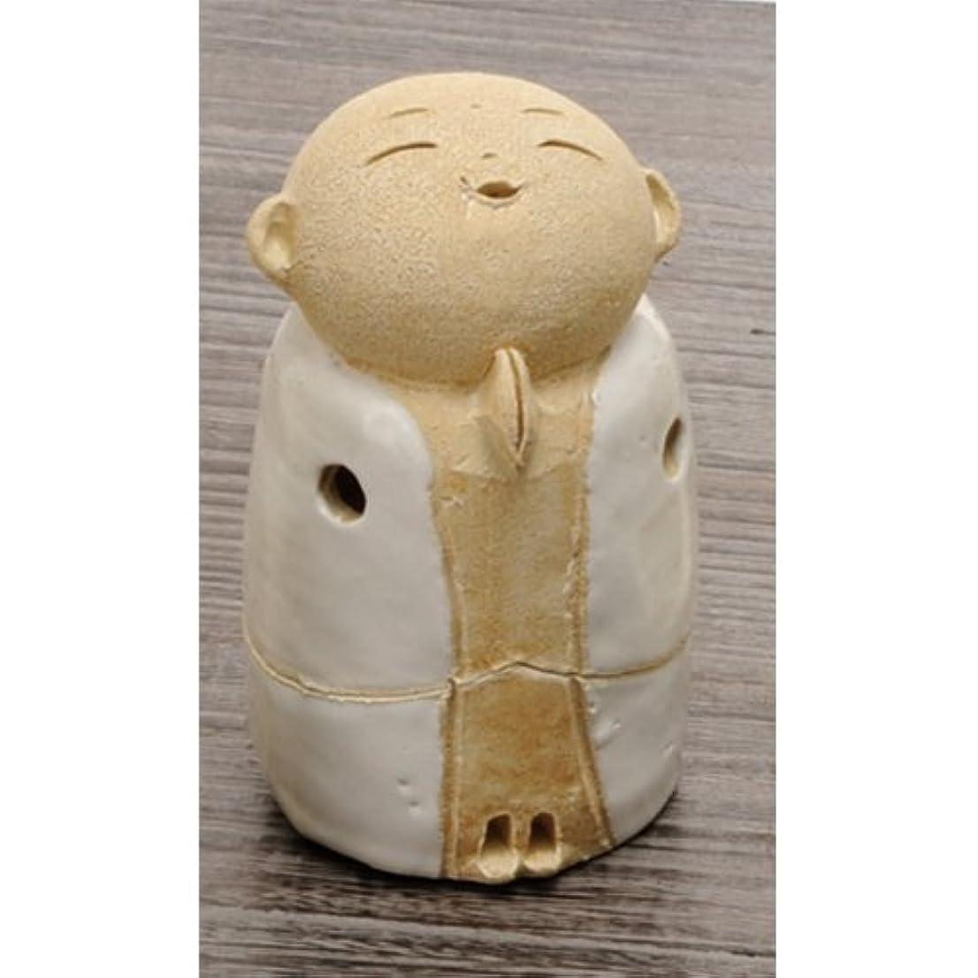 思想舞い上がる起きるお地蔵様 香炉シリーズ 白 お地蔵様 香炉 3.5寸(小) [H10cm] HANDMADE プレゼント ギフト 和食器 かわいい インテリア