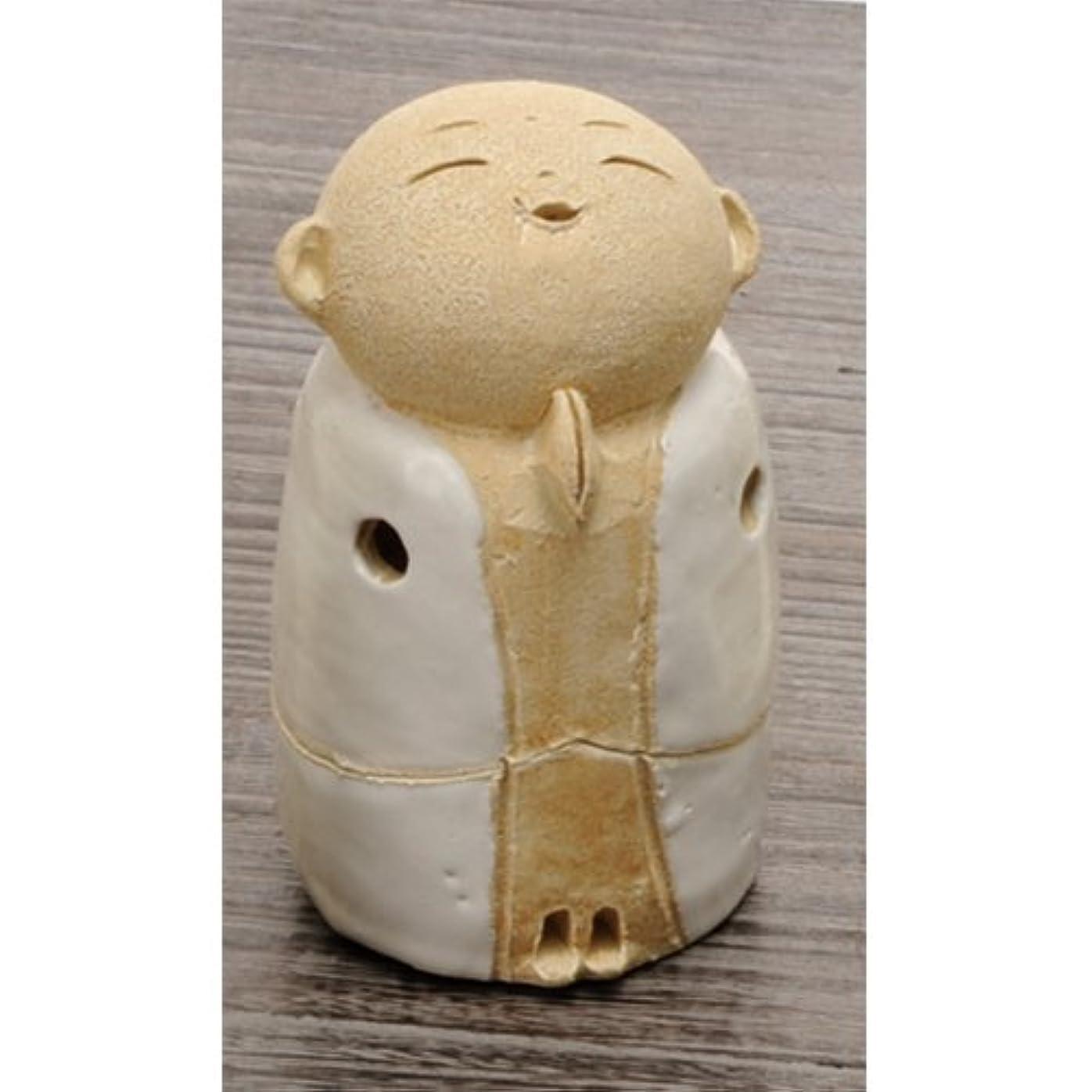 引き出すカヌー年齢お地蔵様 香炉シリーズ 白 お地蔵様 香炉 3.5寸(小) [H10cm] HANDMADE プレゼント ギフト 和食器 かわいい インテリア