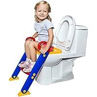baynne子供赤ちゃん幼児用トイレトレーナーラダー折り畳み式ノンスリップToilet Seat