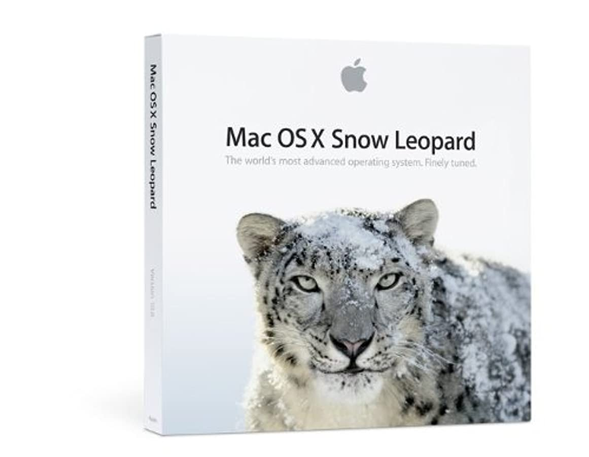 致命的な取り戻すファセットMac OS X 10.6 Snow Leopard ファミリーパック