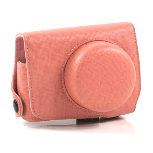 i-Beans【全4色】ニコン 1 J1用カメラケース レトロなPUレザーデジカメケース ピンク PU Leather case for Nikon 1 J1 (1900-4)