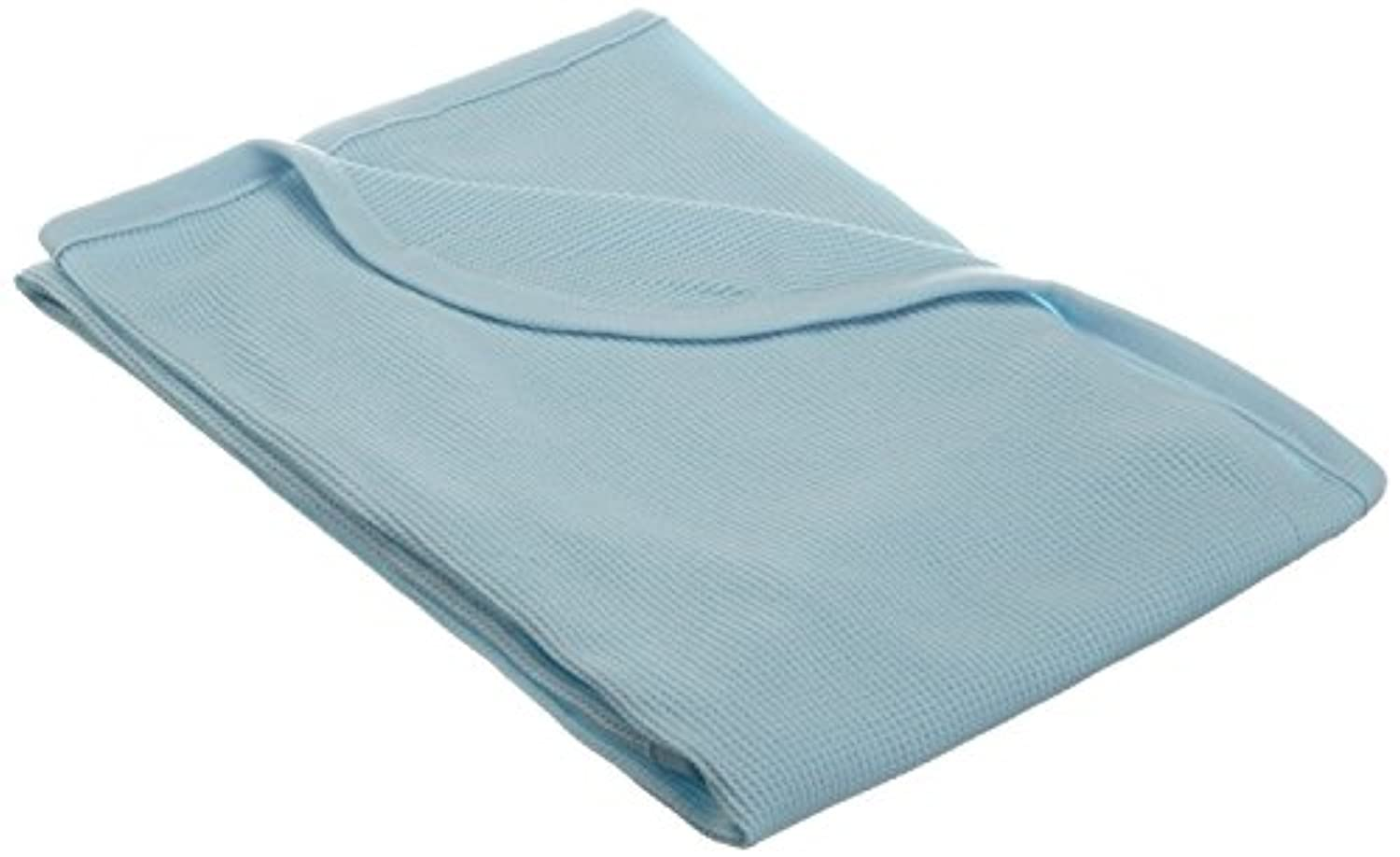 TL Care 100% Cotton Swaddle/Thermal Blanket, Blue by TL Care