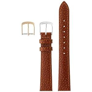 [クレファー]CREPHA 時計ベルト 16mm 革 ピッグ 抗菌 防臭仕上 尾錠 工具付き ブラウン 18-16