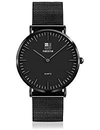 [ルビウスタン]RUBEUSTAN 腕時計 メンズ 防水 超薄型 (ブラック)