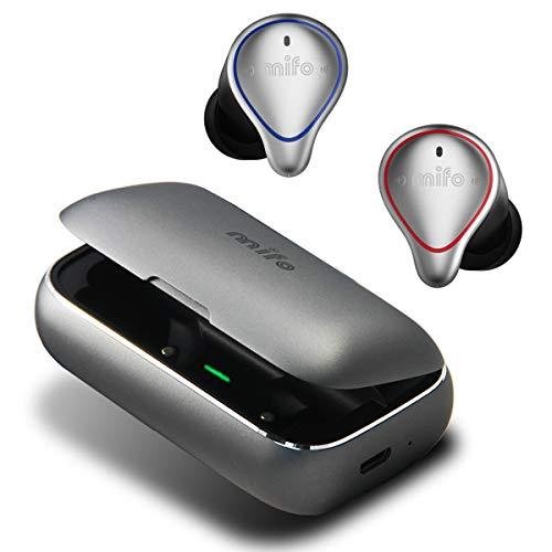 mifo 完全ワイヤレスイヤホン Bluetooth イヤホン ワイヤレス Hi-Fi 高音質 3Dステレオサウンド メタル 120時間連続駆動 IPX7防水規格 マイク内蔵 自動ペアリング bluetooth5.0 左右分離型 Siri対応 音量調整 超大容量充電ケース付き 片耳&両耳とも対応 iPhone/ipad/Android適用