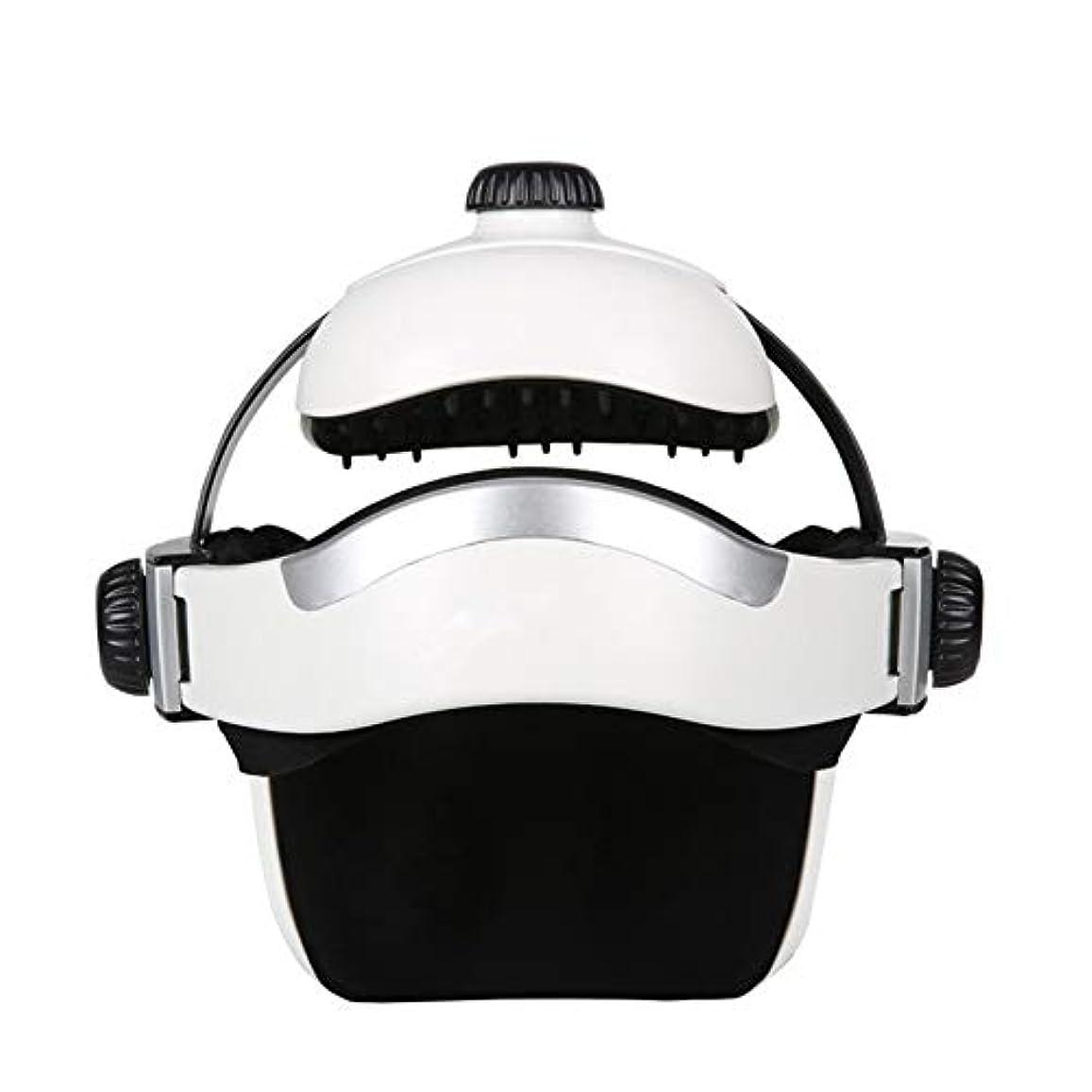 先薬局レイプヘッドマッサージャー、充電式電気ヘルメットマッサージャー、エアコンプレッション、リモートコントロールコントロール、ストレス解消、深眠