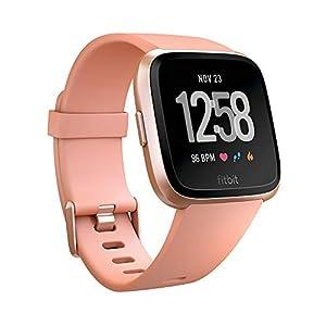 Fitbit フィットビット スマートウォッチ Versa 心拍数測定 睡眠 パーソナルコーチ 耐水仕様 Peach/Rose Gold Aluminum L/Sサイズ【日本正規品】 FB505RGPK-CJK