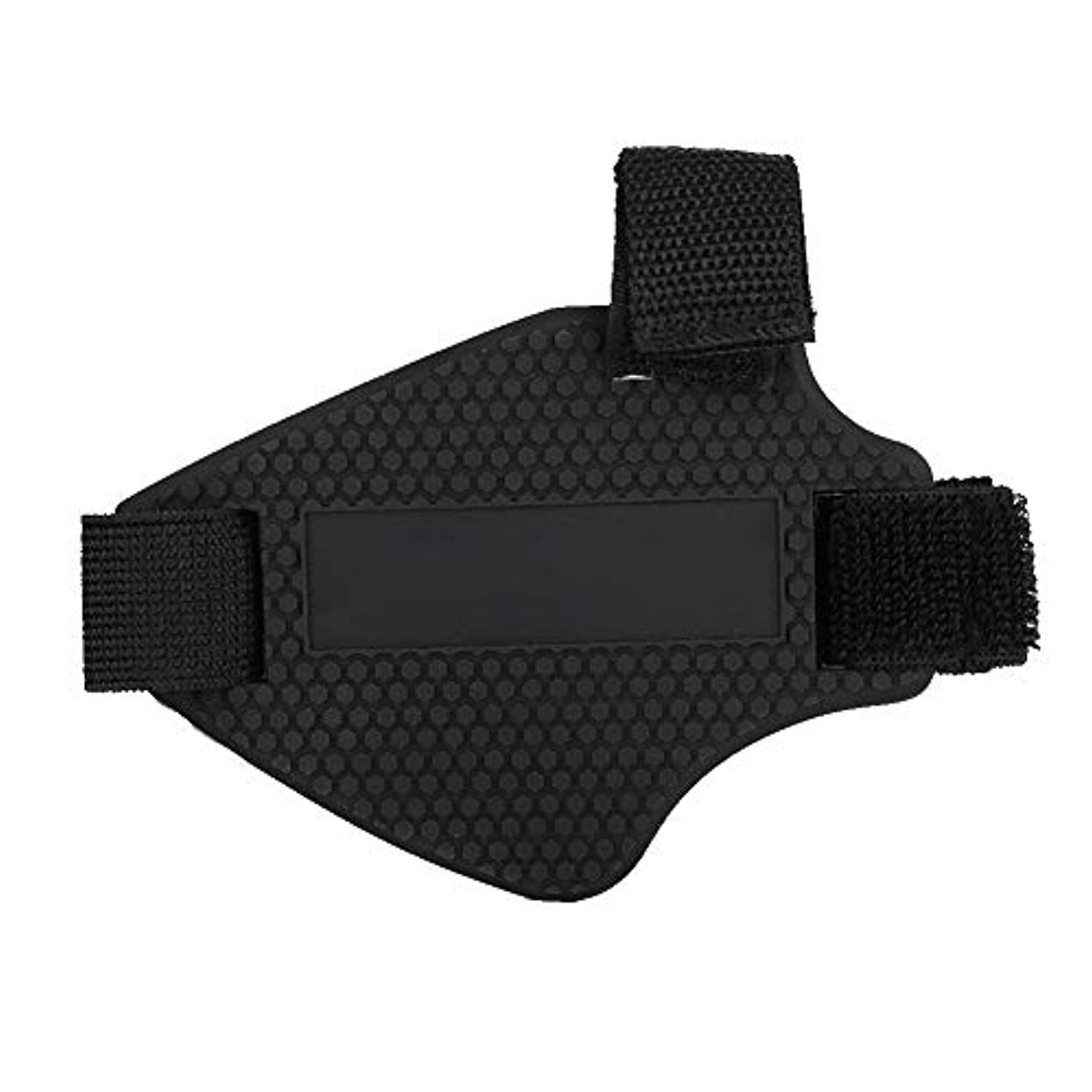 健康的透けて見える不確実オートバイシフトパッド、ゴム製オートバイシューズブーツカバープロテクターシフトガードギア保護シフトパッド、ブラック