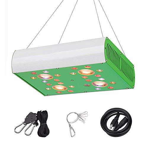 Hipargero LED グロー ライト MG900 グロー ランプ グリーンハウス 水耕 屋内 植物 成長 野菜 と 花 照明 器具 用 フル スペクトル COB と CREE/OSRAM LED チップ 付 ホワイト グリーン