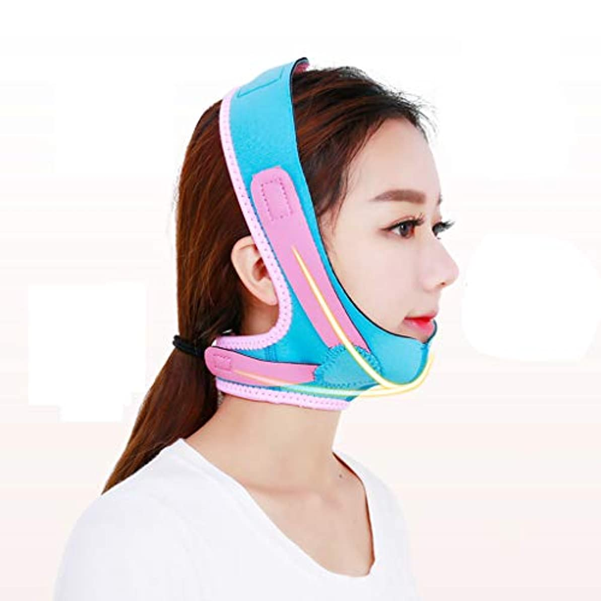 顔の重量の損失の顔の計器の包帯小さな顔のステッカーの女性の睡眠の顎セット