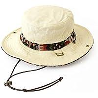 (クリサンドラ) Chrisandra 全5柄 メンズ リネン サファリハット ネイティブ柄 男女兼用 アドベンチャー ハット ワイヤー入り 無地 フリーサイズ カジュアル ブランド 帽子