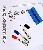 ホワイトボード マーカー 、水性 インク速乾マーカーペン 、中字 丸芯 、14本入 3色 、防水、無毒、低臭気、消しやすい、線幅2mm 附赠 黒板消し 画像