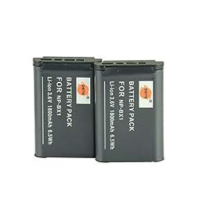 DSTE® アクセサリ NP-BX1 互換 カメラ バッテリー 2個 対応機種 Cyber-shot DSC-RX1 RX1R RX100 II III HX50V HX90V HX300 WX300 WX500 HDR-GWP88V GW66V CX240 AS15 DSC-RX1RM2