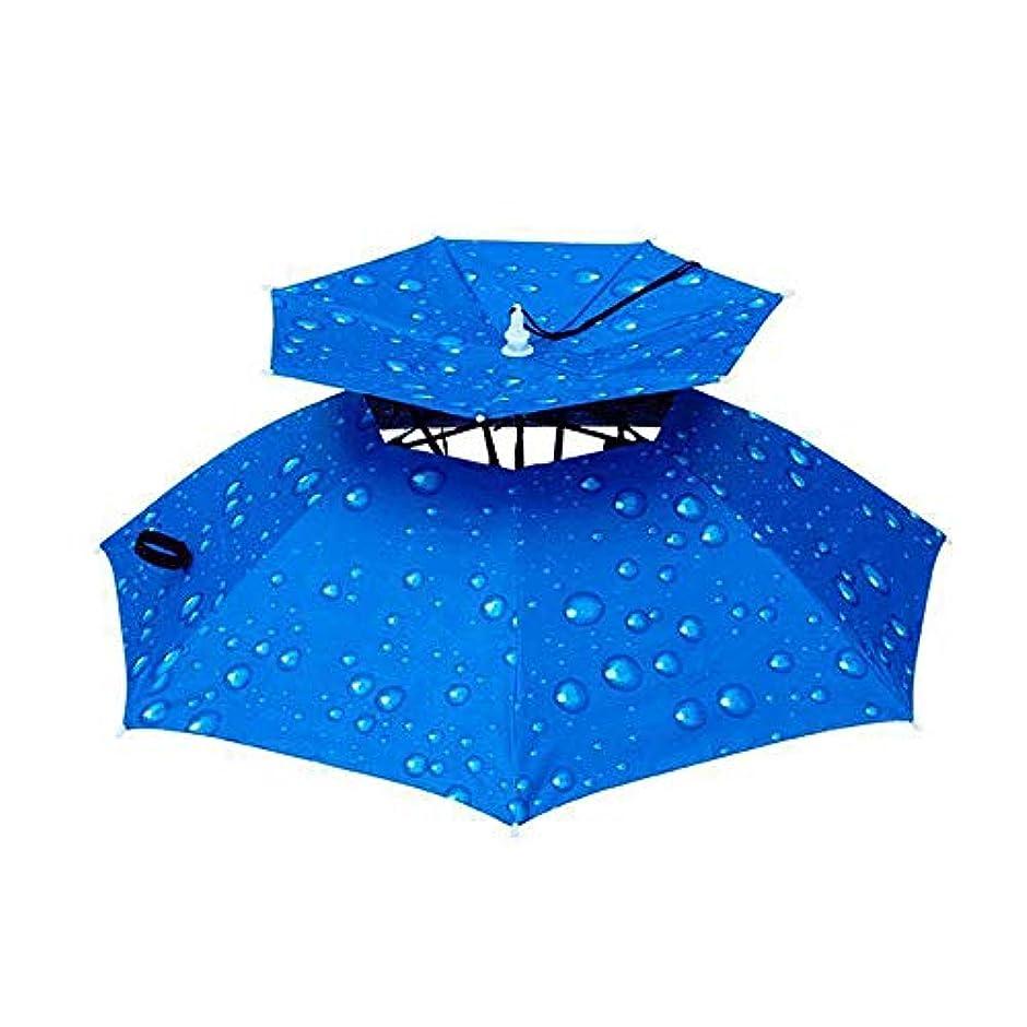スタッフシアーフィードXBR防風傘キャップ大大人折りたたみ式リムレス帽子ハンズフリーヘッドバンド女性と男性ゴルフ釣りガーデニング写真ウォーキング衣装面白いジョークギフト