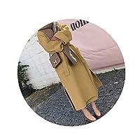 女性ウールコート女性厚く長袖ミディアムロングレディベルトコート、ジンジャーイエロー、XXL