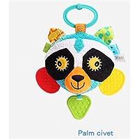 HuaQingPiJu-JP 子供幼児ラブリーCivet猫ローリングハンドつかむミラーおもちゃカラフルな安全ミラーギフト