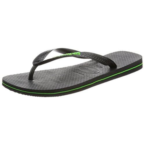 [ハワイアナス] ビーチサンダル LOGO FILETE 410855561524142 Black/Neon Green Black/Neon Green その他 41/42(27-27.5cm)(27cm)