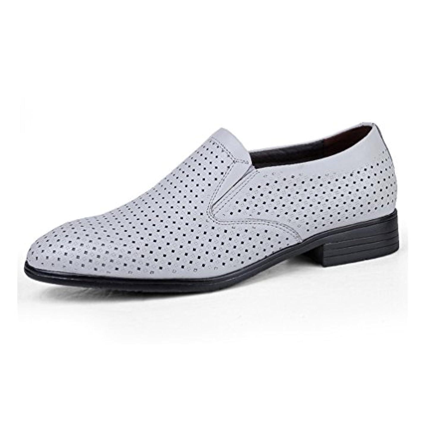 支払うマイクロくビジネスシューズ ローファー メンズ モカシン 白 イタリア風 フォーマル 革靴 紳士靴 パンチンク カジュアル ローヒール 軽量 蒸れない コンフォート ベーシック ウォーキング 脱着やすい 大人 通勤 父の日
